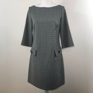 Lily Houndstooth Vintage Style Dress - Medium